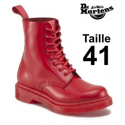 DR MARTENS 1460 Pascal mono poppy red, taille 41 EU (7 UK