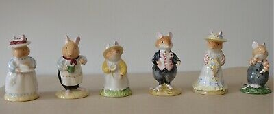 Royal Doulton Brambly Hedge Figurine Collection DBH 1, 2, 3, 6, 7, & 8
