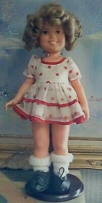 Shirley Temple Doll, Over 45 Years Old, Poka-Dot Dress, Black Shoes, Great Condi