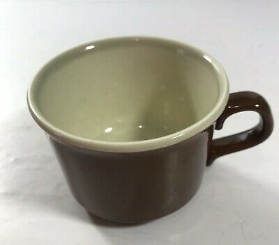 VINTAGE BROWN Small COFFEE MUG CUP USA Collectible Kitchen Wear Primitive