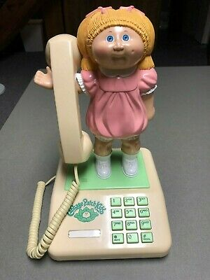 Cabbage Patch Kids Doll Phone Coleco 1985 Very Good condition Works!