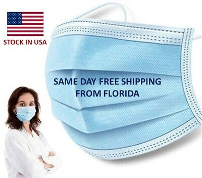 10 PCS Face Mask Mouth & Nose Protector Respirator Masks with Filter | Blue