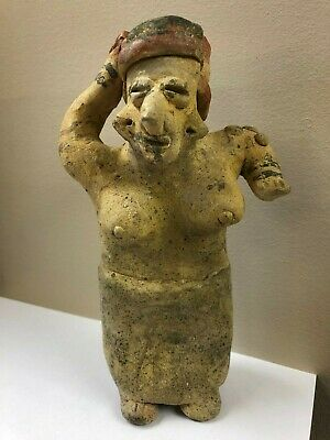 Pre-Columbian Jalisco Standing Female Figure, 250 BC - 250 AD, Free Shipping