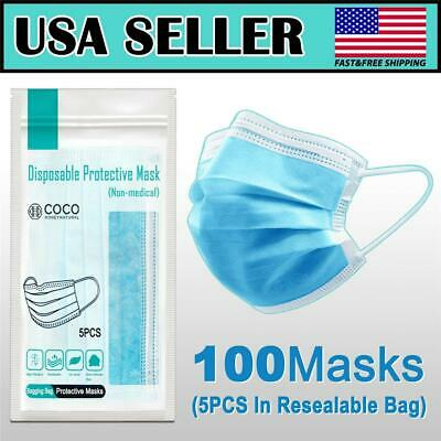 [SHIP FROM USA] Protective Face Mask (20PC)