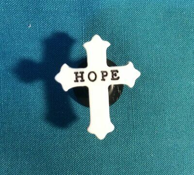Cute Christian Religious Word HOPE Cross Croc Hole Accessorie Shoe Charm