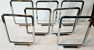 Lot of 7 Vintage Magnetic Base Store Price or Information Display Card Holders