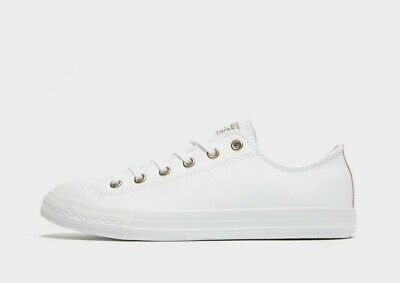 Converse Chuck Taylor All Star Ox Jr  Women's Girls White Leather size 4