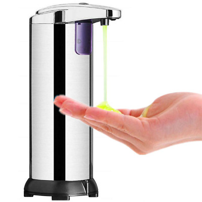 Stainless Steel Auto Infrared Induction Soap Touchless Dispenser Cleaning