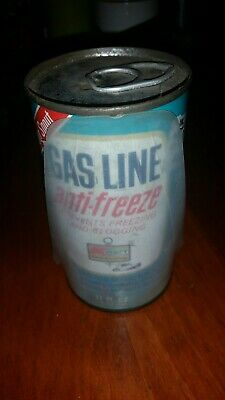 NOS  VINTAGE Kmart Gas Line Anti-Freeze 12oz Can With Funnel Sealed Car Oil USA