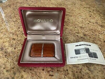Vintage Movado Ermeto Travel Watch Automatic Winding w/ Box