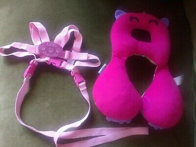 Boots baby toddler walking reins harness safety pink + Trunki Head suppor Travel