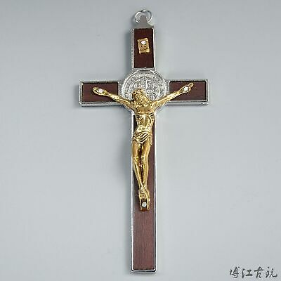 Collect China Old Miao Silver & Gilding Hand-Carved Lord Jesus Exorcism Statue
