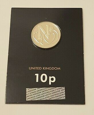 2018  LETTER N  for NHS : alphabet A-Z Letter 10p coin : Royal Mint Uncirculated