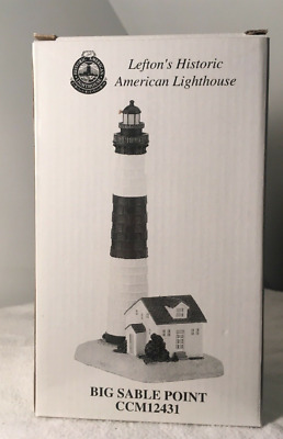 Lefton's Historic American Lighthouse, Big Sable Point, MI, Mint in Box, 1999
