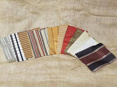 "UPHOLSTERY HOME DECOR DESIGNER FABRIC SAMPLE SWATCHES 8"" x 6"" PIECES LOT #4"