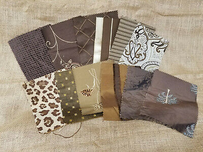 "UPHOLSTERY HOME DECOR DESIGNER FABRIC SAMPLE SWATCHES 8"" x 6"" PIECES LOT #2"
