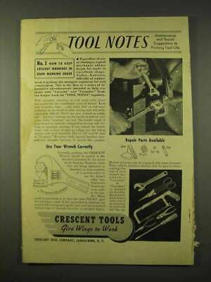 1942 Crescent Tools Ad - Keep Wrenches in Good Order