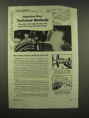 1944 Wrigley's Spearmint Gum Ad - Technical Methods