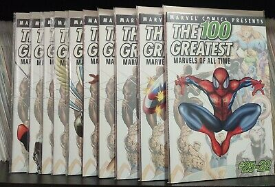 100 Greatest Marvels of All Time #1 to #10 (2001) - NM