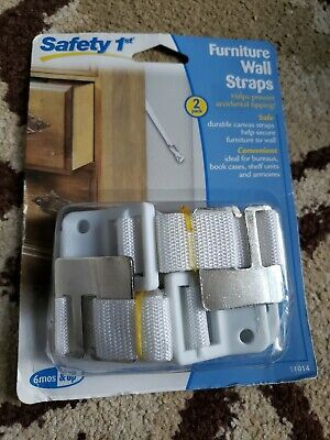 Brand New Safety 1st Furniture Wall Straps 2 Pack 11014 Child Safety Baby Proof