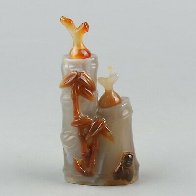 Chinese Exquisite Handmade cicada agate snuff bottle