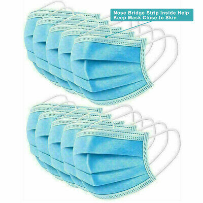 5/10/20/50 pcs Face Mask 3-Ply Disposable Face Shield Face Mouth Cover No Medic