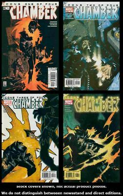 Chamber 1 2 3 4 Marvel 2002 Complete Set Run Lot 1-4 VF/NM
