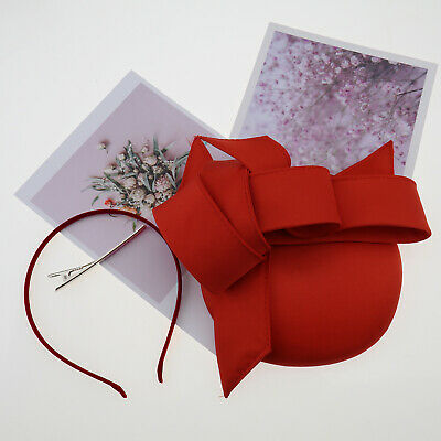 Red Stylish Graceful Artistic Fascinator Hat Headband Hair Clip Fashionable
