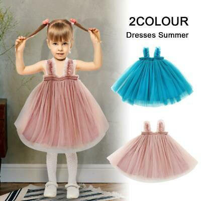 Toddler Children Kid Baby Girl Princess Dresses Tulle Clothes For Birthday Party