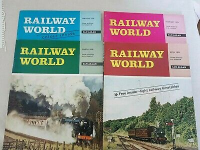 4 x RAILWAY WORLD MAGAZINE January February March and April  1970