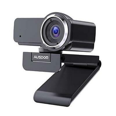 Full HD Webcam 1080P with Microphone, Manual Focus AUSDOM AW635 Wide Angle USB