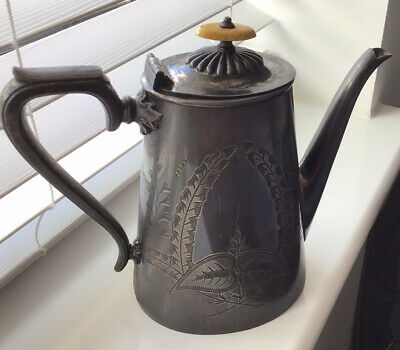 antique pewter teapot Fenton Bros Ltd Sheffield