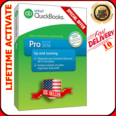 Quickbooks Desktop Pro 2016 ✅ Life time activation ✅ Fast delivery ✅ 3 Users