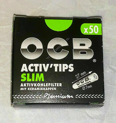 OCB ACTIV`TIPS SLIM EXTRA SLIM Aktivkohle-Filter 7mm 6mm Premium Slim Blättchen
