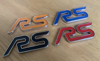 Ford Rs Badge Black Red Blue Orange Focus Mk1 Mk2 Mk2 Mk3 Boot Tailgate Adhesive