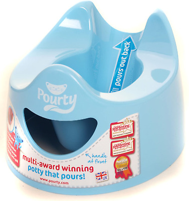 Pourty Baby Toilet Training Potty Easy Clean & Empty  Blue