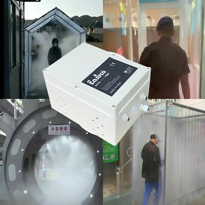 Disinfection with Motion Sensor Sanitizing Gates Low Powered Mist Cooling System