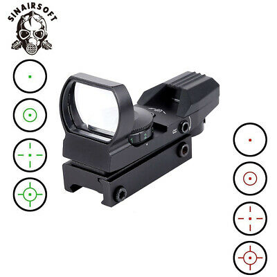 Red + Green Dot Reflex Sight Holographic Scope Tactical Rifle Mount 11/20mm Rail