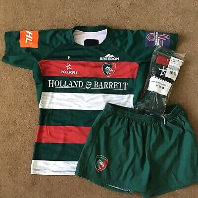 Leicester Tigers Match Worn and Washed Home Kit - 2XL
