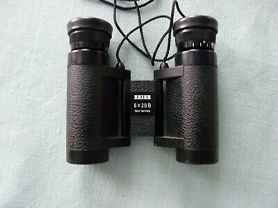 Zeiss 6x20 B Fernglas Taschenfernglas Jäger Oper Made in West Germany