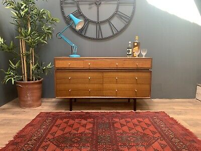Mid Century Retro Sideboard/ Chest Of Drawers, Teak, Danish G Plan Style