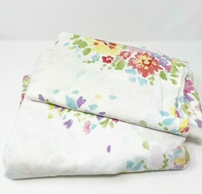 Pottery Barn Kids Floral Bouquet Twin Duvet Cover & Standard Pillow Sham