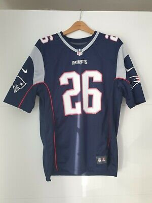 NFL New England Patriots Jersey Trikot Large L Home # 26 Sony Michel NEU