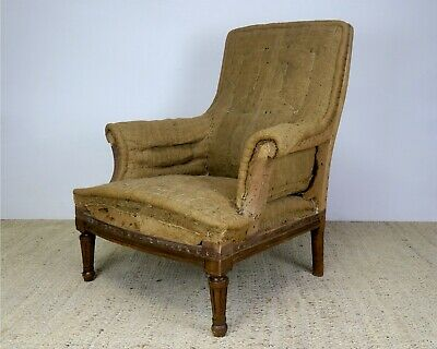 Antique French Louis Philippe Armchair For Reupholstery