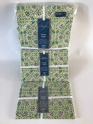 Liberty Lodden Linden Green Cotton Super King Size Duvet Cover & Two Pillowcases