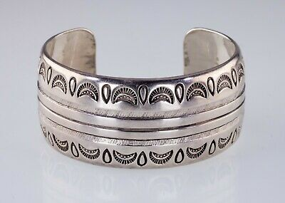 Herbert Taylor Argento Sterling Timbro Design Bracciale a Polsino
