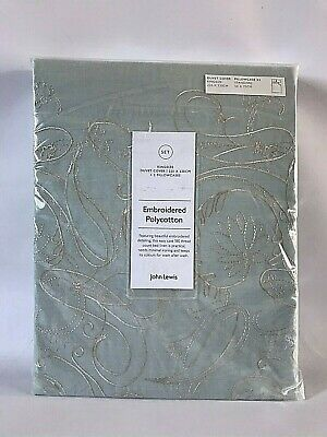 John Lewis Palace Embroidery Poly-Cotton King Size Duvet Cover & Pillowcases Set