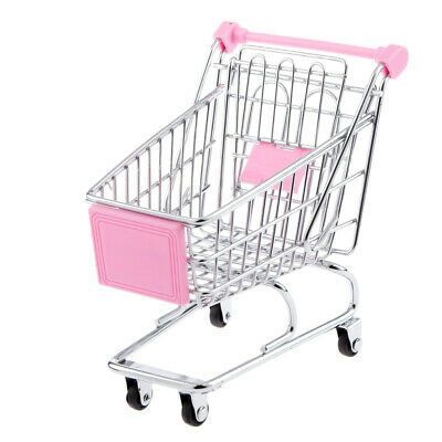1//12 Dolls House Miniature Shopping Grocery Trolley Cart with Bag EIWF571