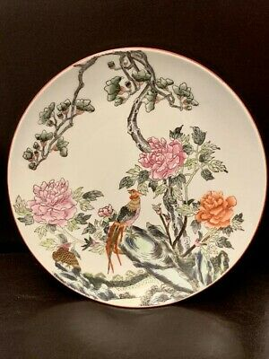 Chinese Famille Rose Plate 19c Quing Dynasty Kangxi mark.