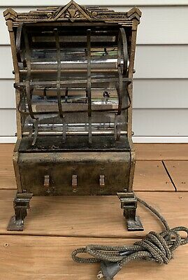 Antique Vtg Art Deco Neo-Glo Electric Heater Markel Model 130A Cast Iron